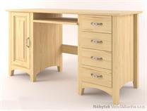 dřevěný psací stůl, PC stolek z masivního dřeva Castello CAS-S-32 drewm