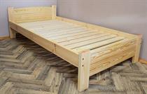 dřevěná dvojlůžková postel z masivního dřeva Aston chalup