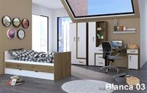 moderní dětský pokoj, studentský pokoj  z dřevotřísky MDF Blanca 03 adrk