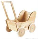 dětská dřevěná hračka kočárek pro panenky Retro Stroller elm