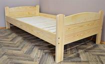 dřevěná dvojlůžková postel z masivního dřeva Lozanna chalup