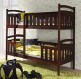 dřevěná patrová postel z masivního dřeva borovice Franklin meblano