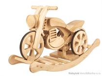 dětská dřevěná houpací hračka motorka Sport limited přírodní velká elm