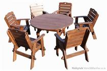 dřevěný zahradní nábytek Jedrzej 17 kulatý 1S+6K euromeb 17