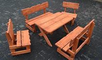dřevěný zahradní dětský nábytek set botodre