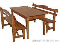 dřevěný zahradní nábytek 2+1 Mieszko 01 trim skladem