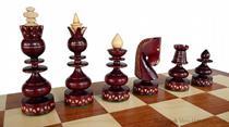 dřevěné šachy tradiční Bizant 130 mad