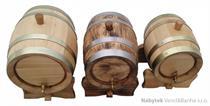 dubový soudek na alkohol 3 litrový