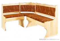 dřevěná čalouněna rohová jídelní lavice z masivního dřeva borovice NR111 pacyg