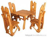 stylový rustikální dřevěný zahradní nábytek MO240 pacyg