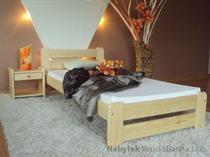 dřevěná jednolůžková postel z masivního dřeva Eureka maxidre