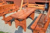 dřevěný zahradní nábytek vencl set 1+2 Rozeta 1 botodre