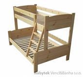 dřevěná patrová postel z masivu, palanda LIDER chalup