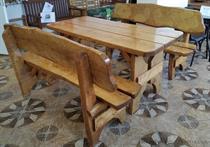 dřevěný zahradní nábytek vencl set 1+2 Řezba 3 botodre