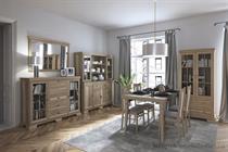 sektorový nábytek, sestava nábytku do jídelny z dřevotřísky Kora gala dub canyon