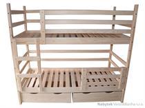dřevěná patrová postel z masivu, palanda Sverige chalup