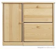 dřevěný botník z masivního dřeva borovice SB118 pacyg