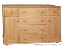 dřevěná komoda, prádelník z masivního dřeva borovice drewfilip 30