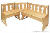 dřevěná rohová jídelní lavice z masivního dřeva borovice NR101 pacyg