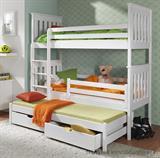dřevěná patrová postel z masivního dřeva borovice Jarek meblano