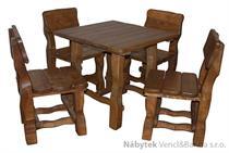 dřevěný zahradní nábytek 1S+4K euromeb