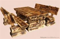 dřevěný zahradní nábytek Bali opalovaný 1+2 drewfilip 211