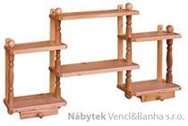 dřevěná závěsná polička z masivního dřeva borovice drewfilip 26