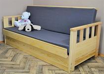 dřevěná moderní pohovka rozkládací, včetně matrace Wojtek120 chalup