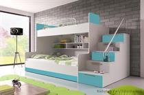 sestava nábytku moderní patrová postel z dřevotřísky Raj 2 karol