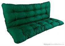 polstr na houpačku 140 cm zelený, polstry na zahradní nábytek lkv