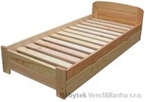 dřevěná jednolůžková postel s úložným prostorem Rocky chalup