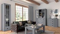 sektorový nábytek, obývací pokoj z dřevotřísky Prowansja šedý gala