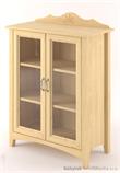 dřevěná prosklená vitrína, knihovna, z masivního dřeva borovice Castello CAS-S-14 drewm