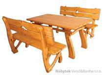 stylový rustikální dřevěný zahradní nábytek MO241 pacyg