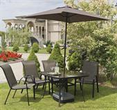 kovový zahradní nábytek vencl Cinoler 1+4 včetně deštníku