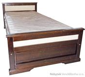 dřevěná jednolůžková postel z masivního dřeva borovice L34 ratan jandr