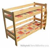 dřevěná patrová postel z masivu, palanda KLASYK chalup