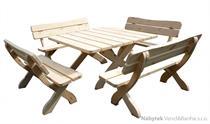 dřevěný zahradní nábytek 1+4 Oland 04 trim