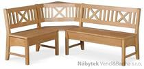 dřevěná rohová jídelní lavice do kuchyně Berlin chojm