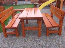 dřevěný zahradní nábytek vencl set 1+2 Slawek 1 botodre