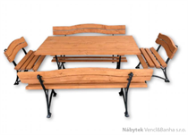 kovový dřevěný zahradní nábytek  1S+2K+2L K14 jandr