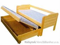 dřevěná dvojí postel z masivu Duo-Perfect chalup