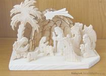 vánoční dřevěný betlem dřevořezba palma malý