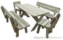 dřevěný zahradní nábytek 1S+2L+2K 150  euromeb 18