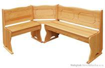 dřevěná rohová jídelní lavice do kuchyně CK243 drewm