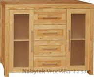 moderní dřevěná komoda, prádelník z masivního dřeva borovice drewfilip DEL SOL 8