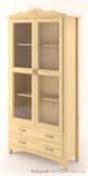dřevěná prosklená vitrína, knihovna, z masivního dřeva borovice Castello CAS-S-06 drewm