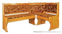 dřevěná rohová jídelní lavice z masivního dřeva borovice NR111 pacyg