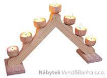 dřevěná vánoční dekorace stojánek se svíčky z masivního dřeva drewfilip 154