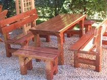 dřevěný zahradní nábytek vencl set 1+2+2 Slawek 3 botodre